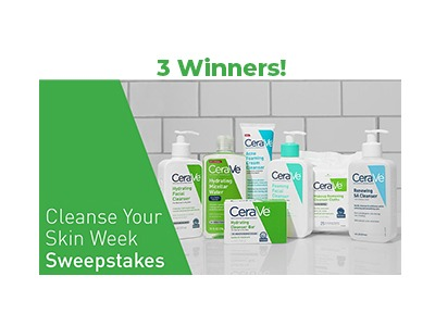 CeraVe Cleanse Your Skin Week Sweepstakes