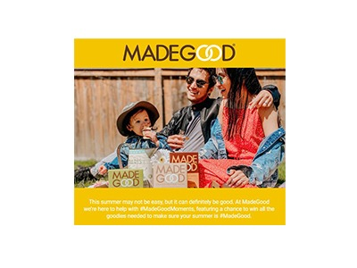 MadeGood Summer Moments Sweepstakes