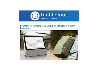 Techlicious Lenovo Tablet and Backpack Giveaway